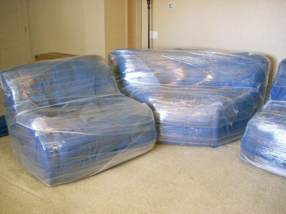 Protect furniture when you move pony express moving services Plastic for furniture